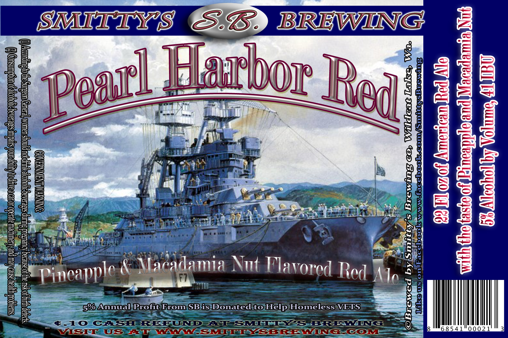 Pearl Harbor Red 3 4x6